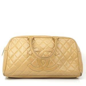 Auth Chanel Matelasse Cc Mark Caviar #1198C19